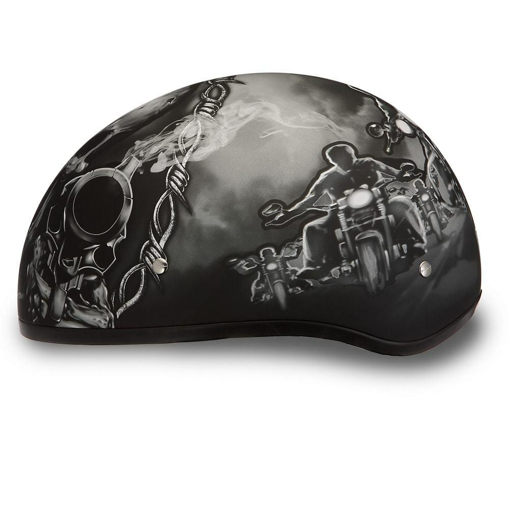 Daytona Helmets Daytona Skull Cap W//Guns D.O.T