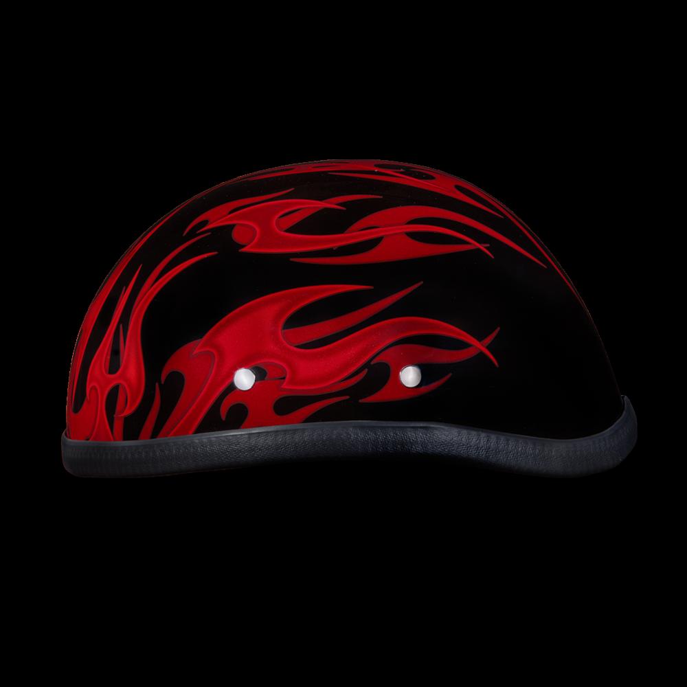 New Daytona Helmets Skull Cap EAGLE- W/ FLAMES RED ...