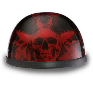 2d29ccf2 Daytona Helmets Skull Cap GERMAN- CHROME Motorcycle Helmet 4004C. $60.90. Novelty  Helmets