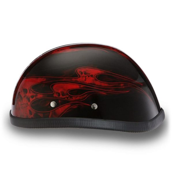 Daytona Helmets Skull Cap EAGLE-W// FLAMES RED Bike Motorcycle Helmet 6002SFR