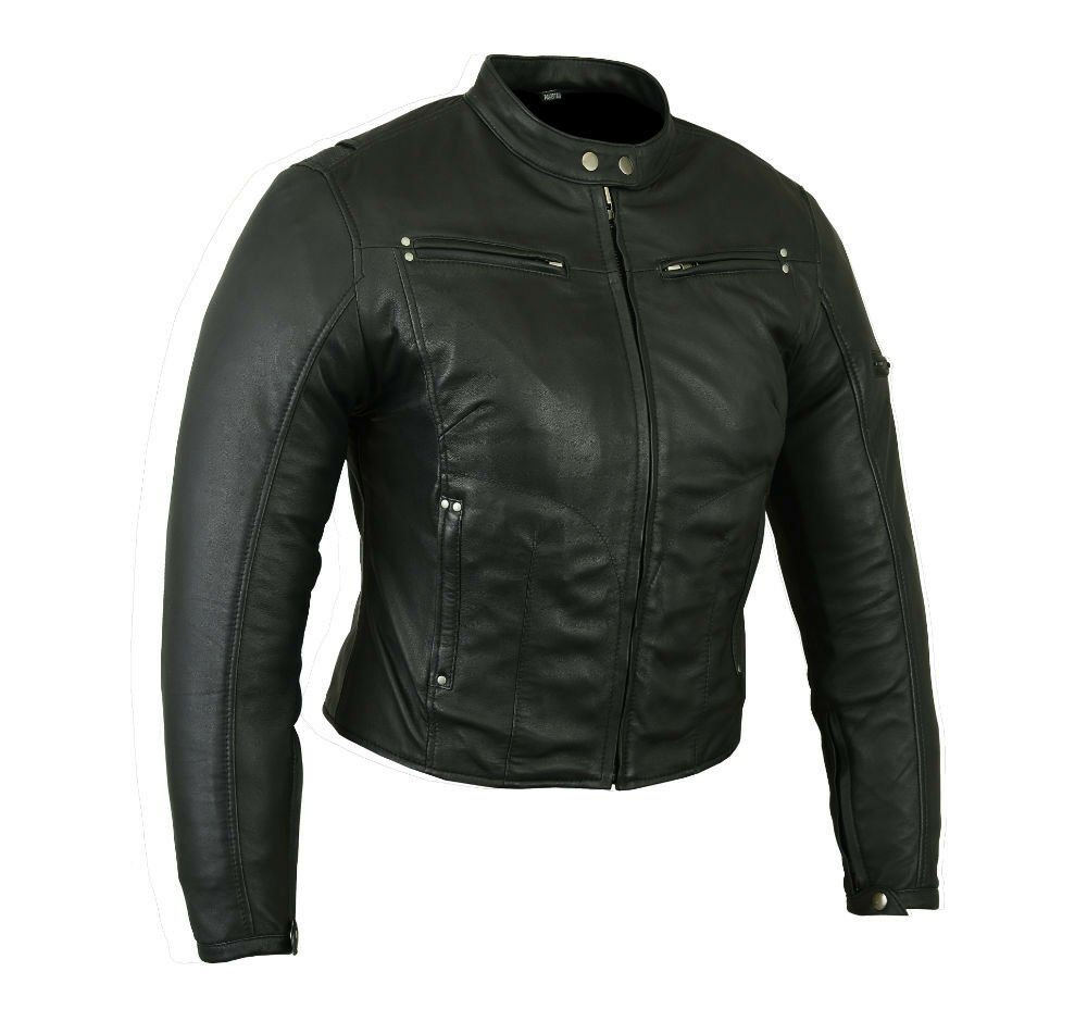 Womens Lightweight Drum Dyed Naked Lambskin Leather