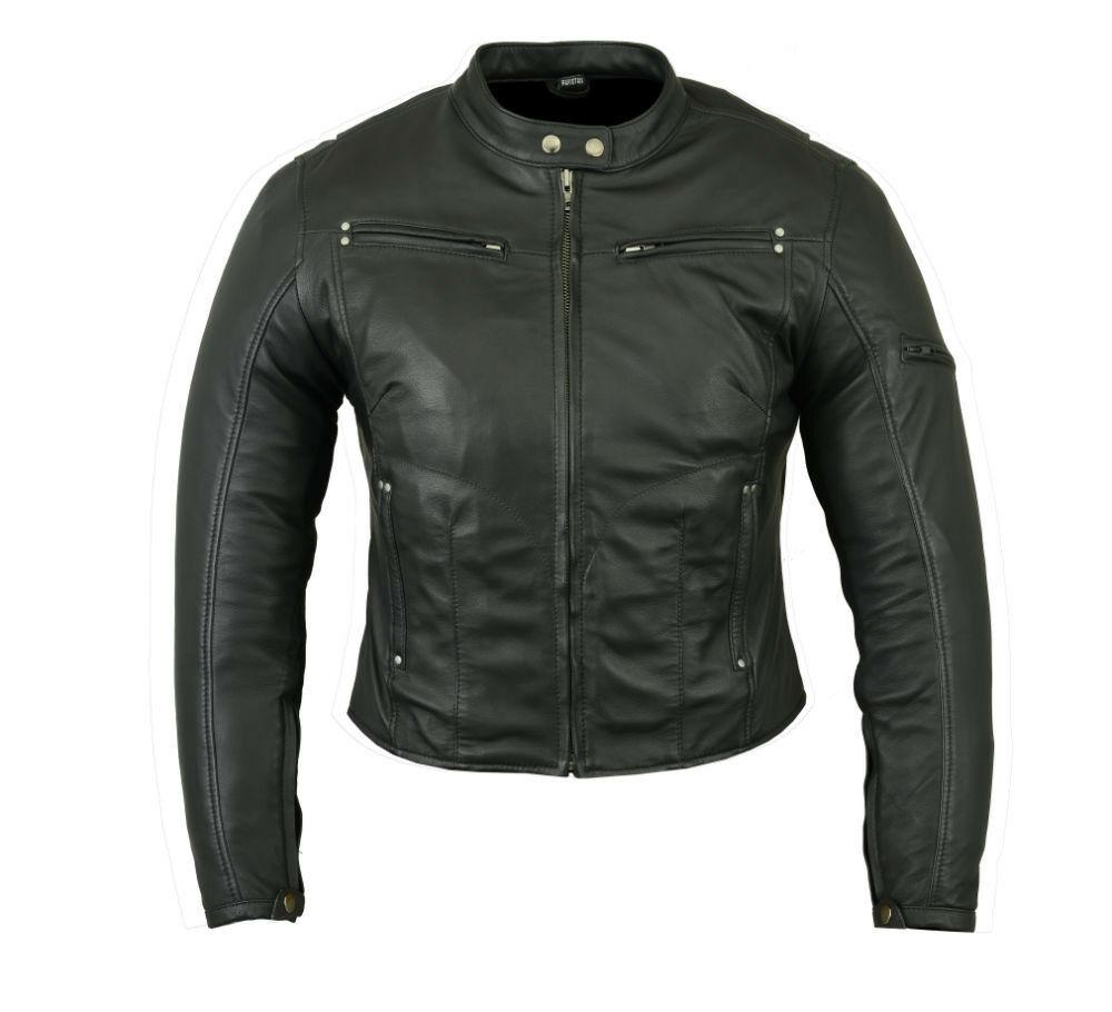 Mens Biker Leather Maverick 1.1-1.2mm Drum Dye Naked