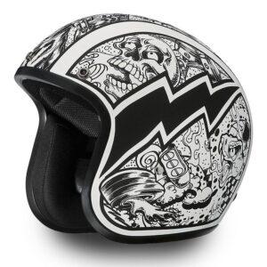 9422b0be1ce Daytona-Helmets-Cruiser-W-GRAFFITI-Vintage-Bike-DOT-