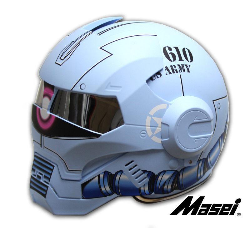 masei 610 ironman gundam zaku blue motorcycle helmet