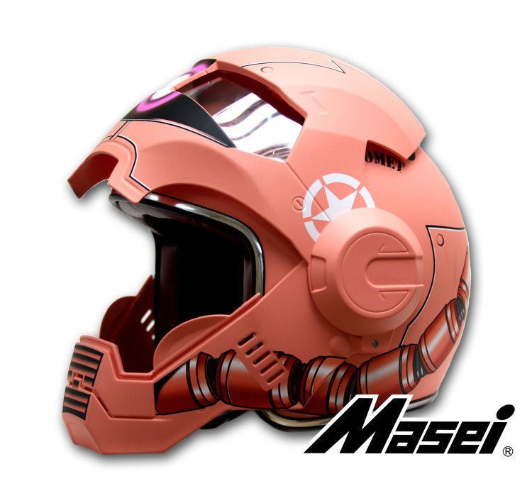 masei 610 ironman gundam zaku red bike motorcycle helmet