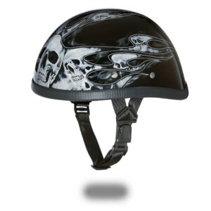92d0e001c12 Daytona-Helmets-Skull-Cap-EAGLE-W-FLAMES-SILVER-